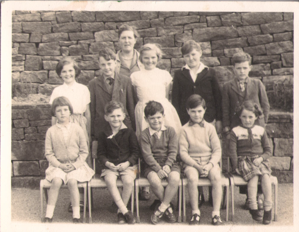 Miss Ormondroyd and pupils c. 1963
